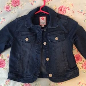 Girls cropped jean jacket